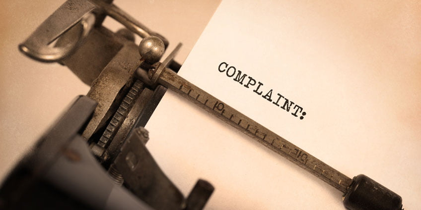 Complaint letter writing