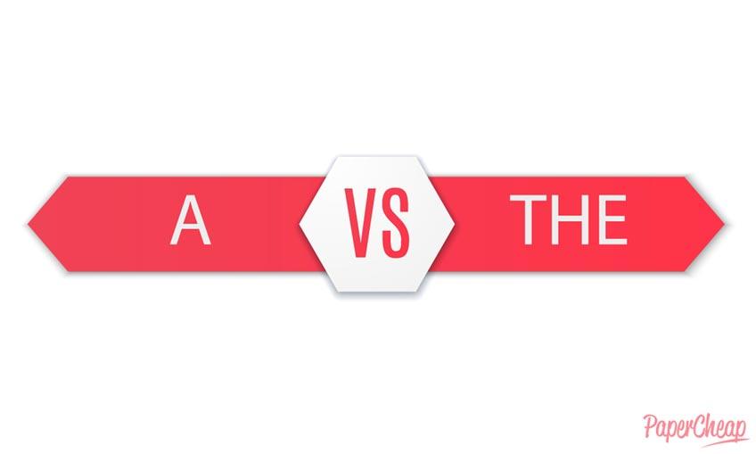 The vs A