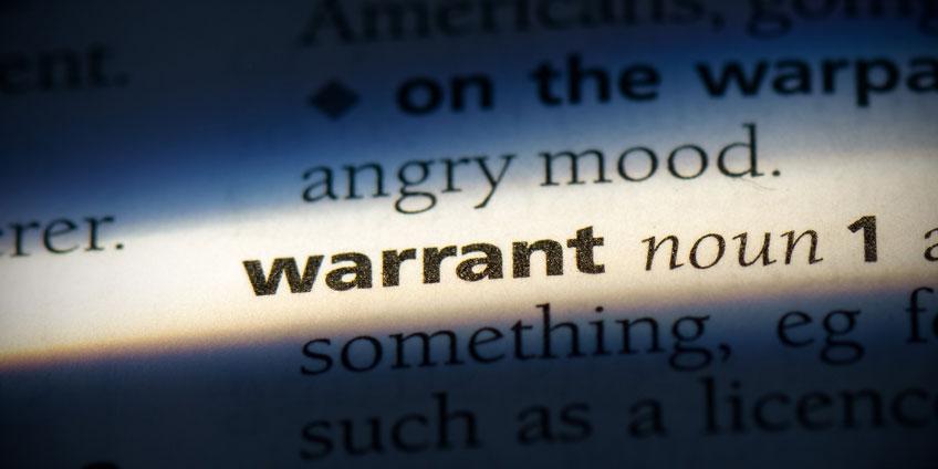 Warrant in writing