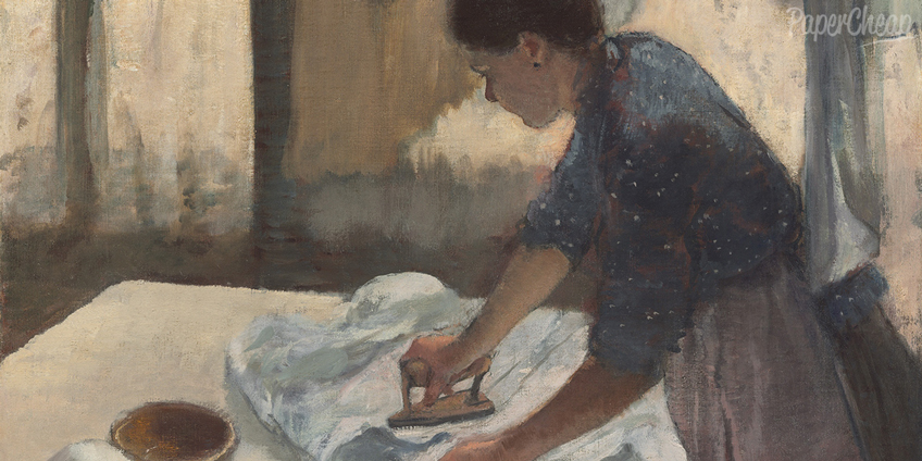 Woman Ironing by Degas