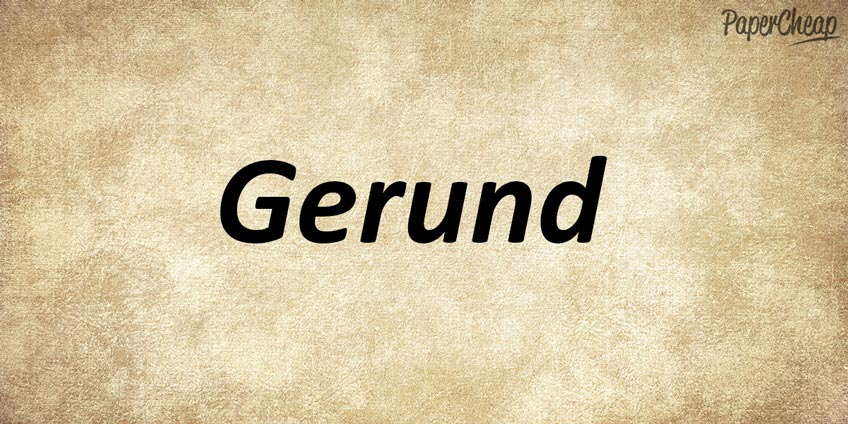 Word Gerund Written on Paper